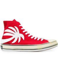 Palm Angels Sneakers con applicazione - Rosso