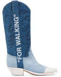 Off-White c/o Virgil Abloh Cotton Boots - Blue