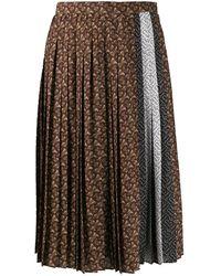 Burberry Silk Skirt - Brown