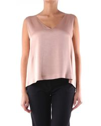 Maliparmi Sleeveless Top In Colour - Pink