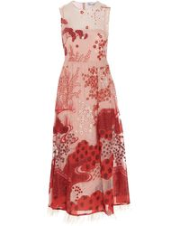 RED Valentino POLYESTER KLEID - Rot