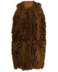 Marni Glmxe02b00lm044rom37 Leather Vest - Brown
