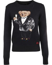Ralph Lauren Black Wool Sweater