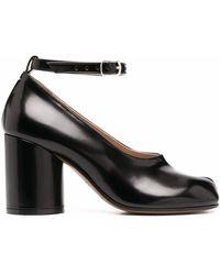 Maison Margiela Leather Heels - Black