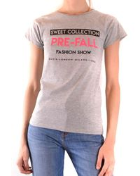Sweet Matilda Gray Cotton T-shirt