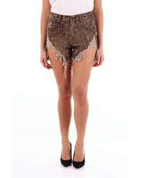 R13 Cotton Shorts - Brown