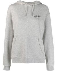 Être Cécile Grey Cotton Sweatshirt - Gray