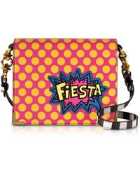 ALESSANDRO ENRIQUEZ Hera Pop Fiesta Leather Shoulder Bag - Red