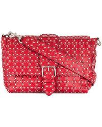 RED Valentino Leather Shoulder Bag - Red