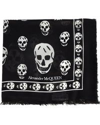 Alexander McQueen Black Silk Foulard