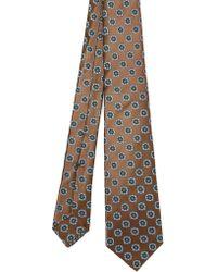 Kiton Brown Silk Tie