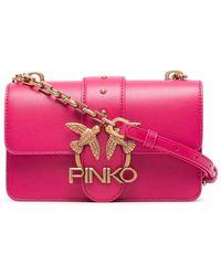 Pinko LEDER POUCH - Pink