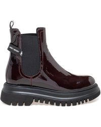 Janet & Janet Patent Leather Ankle Boots - Multicolour