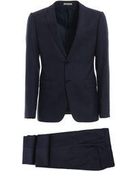 Emporio Armani Blue Wool Suit