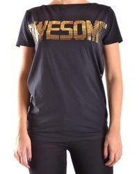 Liu Jo Black Cotton T-shirt