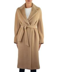 Max Mara Studio Beige Wool Coat - Natural
