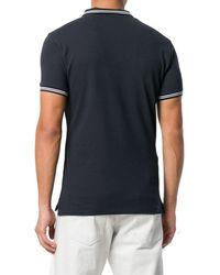 Emporio Armani Kurzärmeliges Poloshirt - Blau