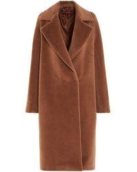 Max Mara Studio Wool Coat - Natural