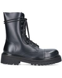 Vetements Leather Ankle Boots - Black