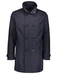 Paul & Shark P19p2135013 polyester trench coat - Blau