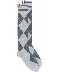 Thom Browne Cotton Socks - Gray