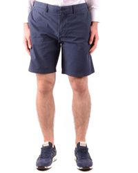 Burberry Blue Cotton Shorts
