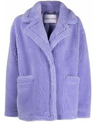 STAND Polyester Coat - Purple