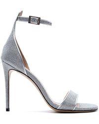 Aldo Castagna Kira15100 Leather Sandals - Metallic