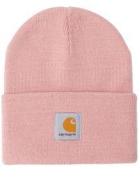 Carhartt Logo Beanie - Pink