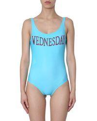 Alberta Ferretti 'Wednesday' Badeanzug - Blau