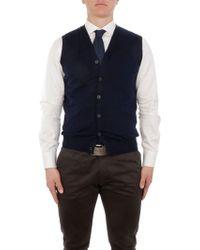 Altea Blue Cotton Vest