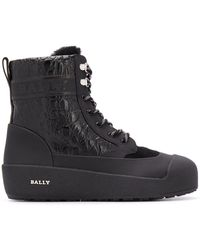 Bally Lace-up Ankle Boots - Black