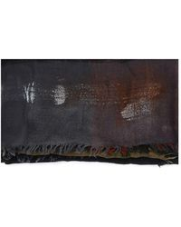 Faliero Sarti Multicolour Wool Scarf - Black