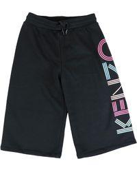KENZO Black Cotton Sweatpants