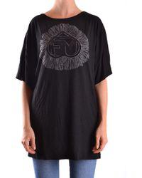 Frankie Morello - Black Cotton T-shirt - Lyst
