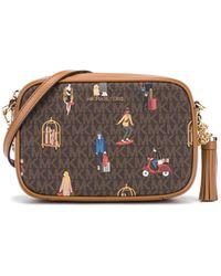Michael Kors Brown Synthetic Fibres Shoulder Bag
