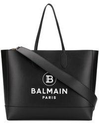 Balmain Leather Tote - Black