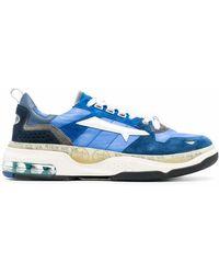 Premiata Leather Lace-up Shoes - Blue