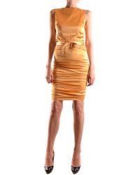 Elisabetta Franchi Silk Dress - Yellow