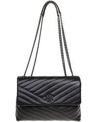 a288079fb Tory Burch Parker Convertible Shoulder Bag in Black - Lyst
