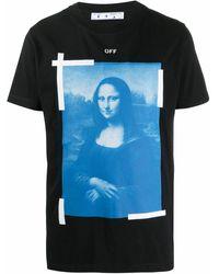 "Off-White c/o Virgil Abloh T-Shirt mit ""Mona Lisa""-Print - Schwarz"