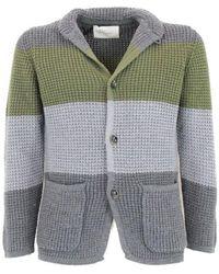 Paolo Pecora Grey Wool Cardigan - Gray