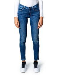 Guess W0baj2d38rc Cotton Jeans - Blue