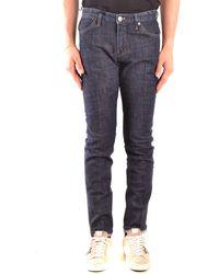 Pt05 Blue Leather Jeans