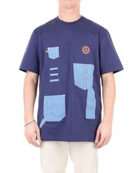 Love Moschino M477001m4001 Cotton T-shirt - Blue