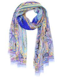 Etro - Multicolour Silk Scarf - Lyst
