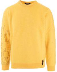 Fendi Fzy421af55f03n1 wolle sweater - Gelb
