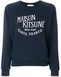 Maison Kitsuné Cotton Sweatshirt - Blue