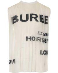 Burberry Sleeveless Top - Black