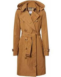 Burberry Cotton Trench Coat - Brown